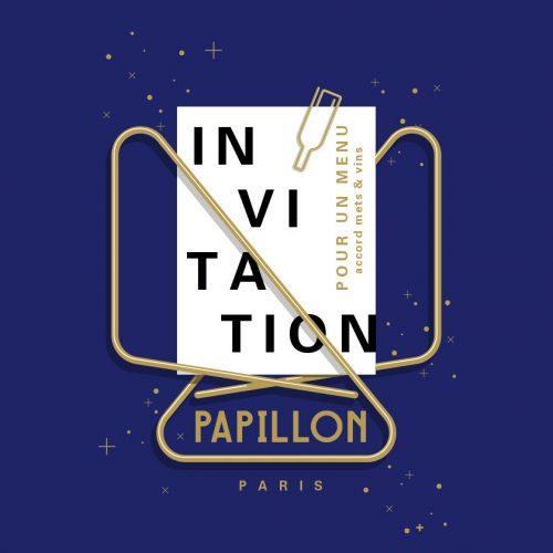 PAPILLON - Invitation Papillon avec accord mets et vins