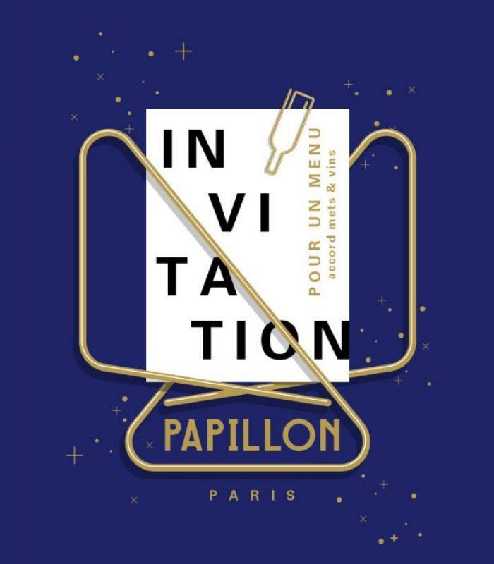 Invitation Papillon avec accord mets et vins - DUCK WALK